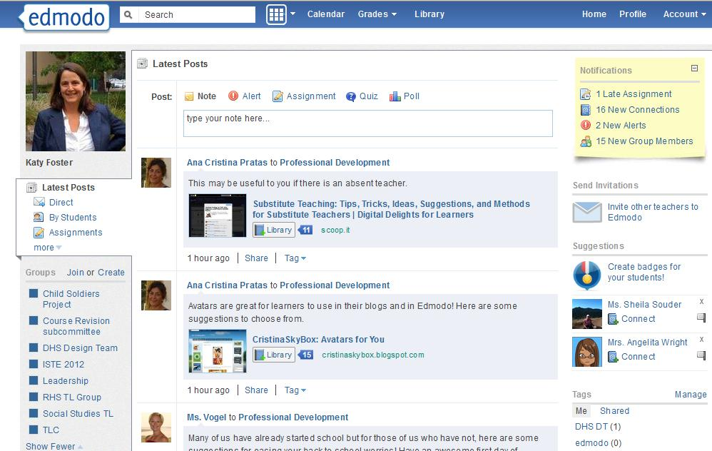 Edmodo for teacher professional development dians blog edmodo for teacher professional development stopboris Images